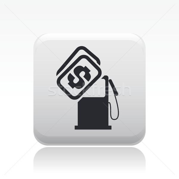 Benzine prijs icon geld kopen concept Stockfoto © Myvector