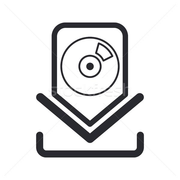 Simgesi indir müzik yazılım ses satış izlemek Stok fotoğraf © Myvector