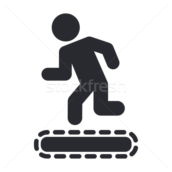 Gym icon Stock photo © Myvector