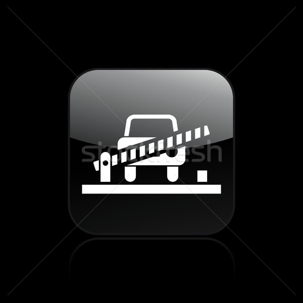 Poort auto icon kaart bar machine Stockfoto © Myvector