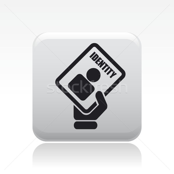 ID card icon Stock photo © Myvector