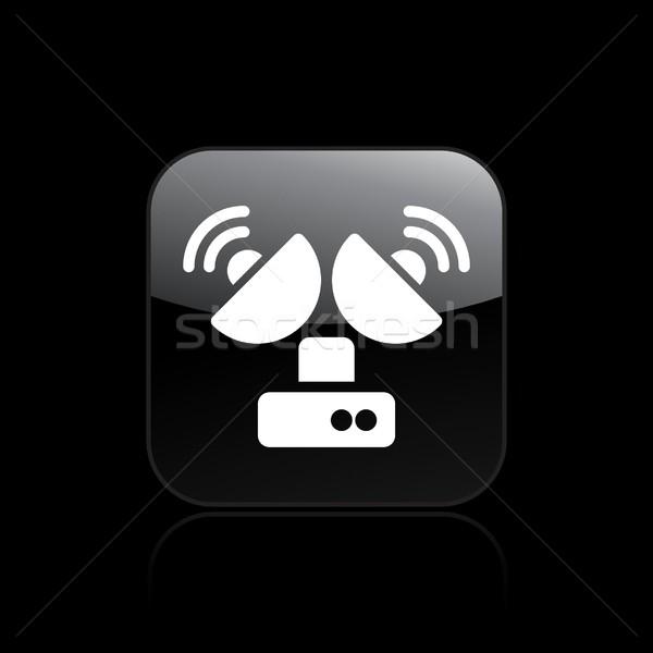 アンテナ アイコン テレビ 衛星 コンセプト ストックフォト © Myvector