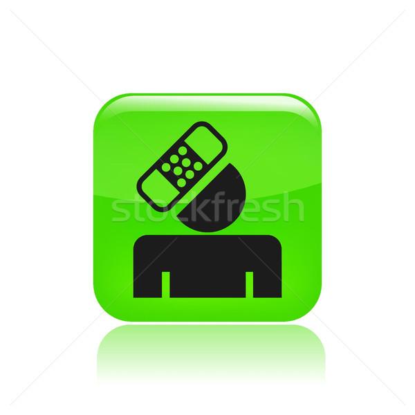 Wypadku ikona bezpieczne ochrony Zdjęcia stock © Myvector