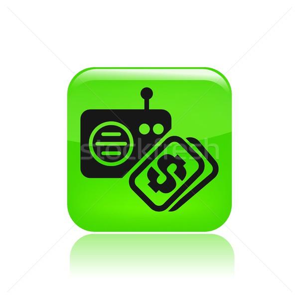 Prijs icon muziek financieren kopen belasting Stockfoto © Myvector