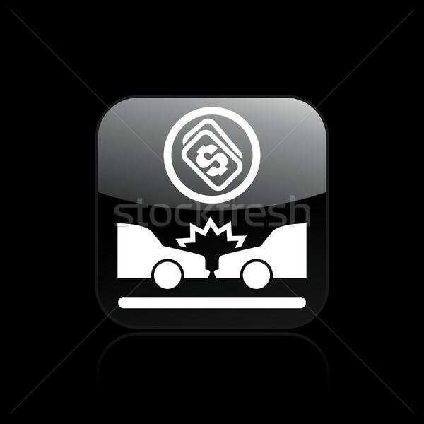 Auto crash icona auto traffico assicurazione Foto d'archivio © Myvector