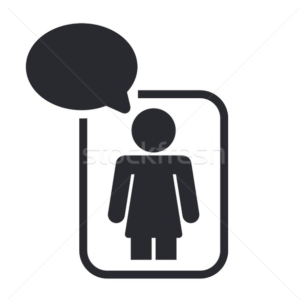 Chat icon contact netwerk praten partner Stockfoto © Myvector