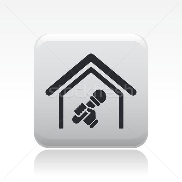 караоке икона дома домой петь вектора Сток-фото © Myvector
