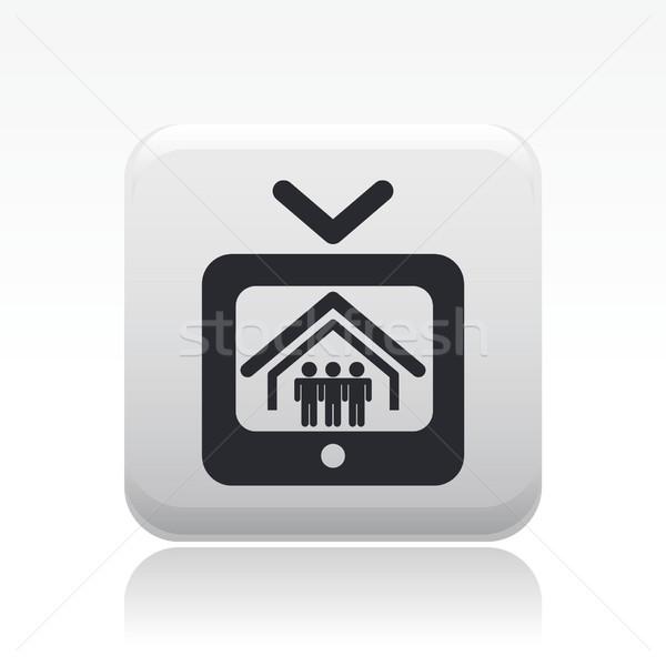 реальность икона телевидение домой видео концепция Сток-фото © Myvector
