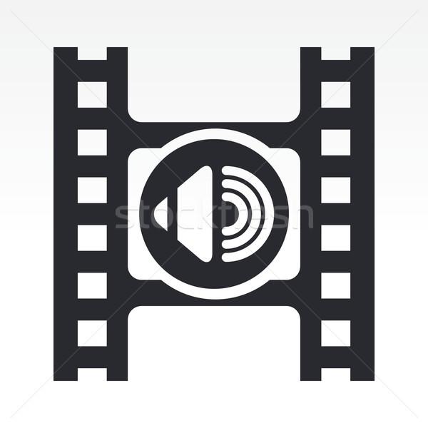 Videó hangerő ikon film gomb Stock fotó © Myvector