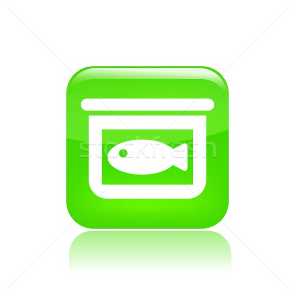 Single canned fish icon Stock photo © Myvector
