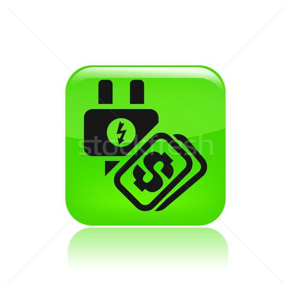 Сток-фото: энергии · стоить · икона · службе · электроэнергии · изолированный