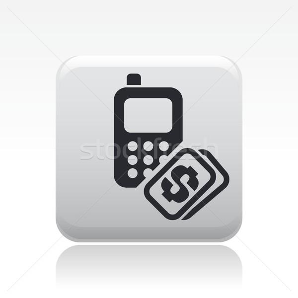 Telefon maliyet ikon para fatura Stok fotoğraf © Myvector