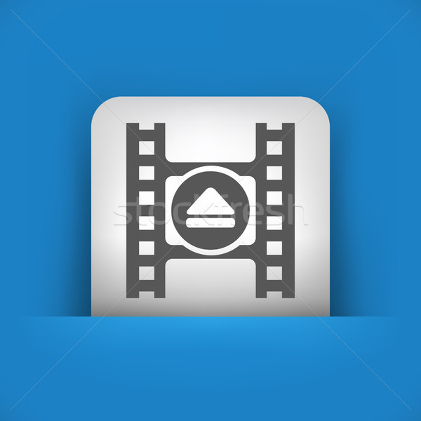 синий серый икона фильма смеситель Сток-фото © Myvector