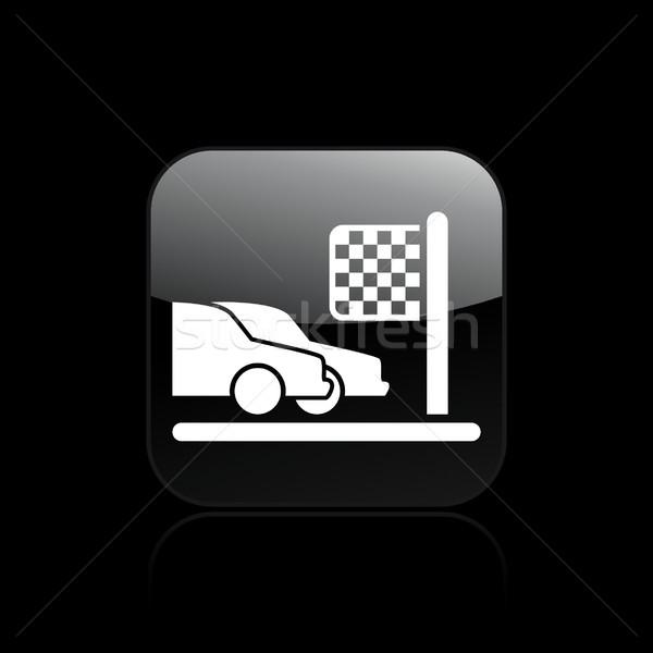 Wyścigu przylot ikona sportowe kubek wyścigi Zdjęcia stock © Myvector