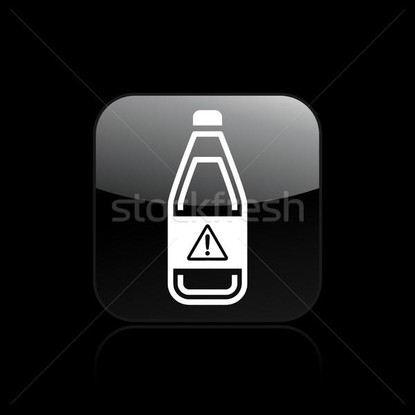 Pericoloso bottiglia icona inquinamento Foto d'archivio © Myvector