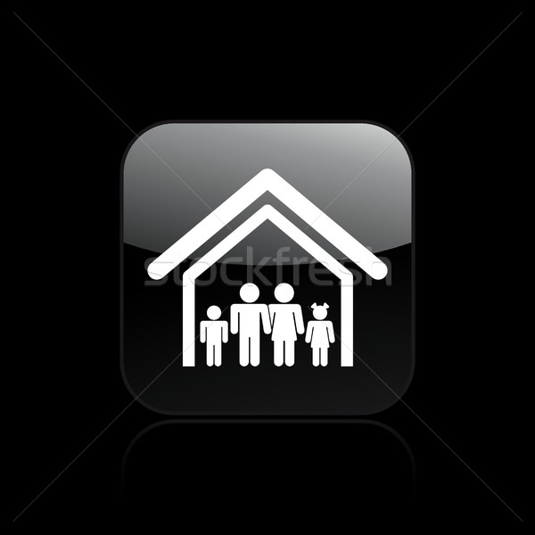 Family home icon Stock photo © Myvector