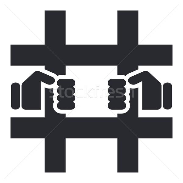 тюрьмы икона рук Сток-фото © Myvector