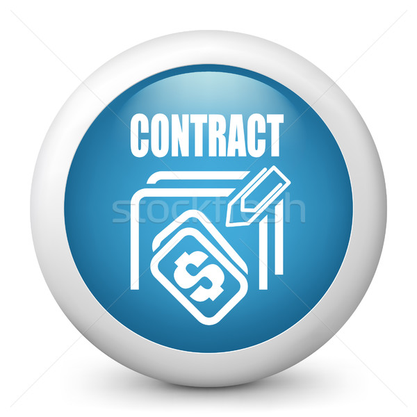 Contrato ícone documento venda clipe de papel Foto stock © Myvector