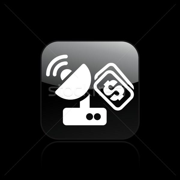 Anten maliyet ikon uydu Stok fotoğraf © Myvector