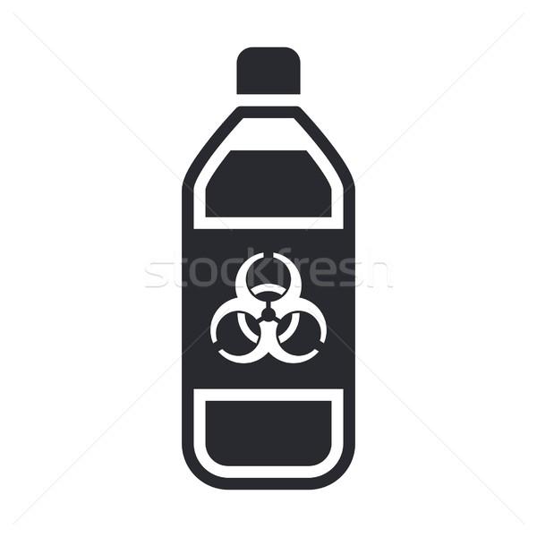 Peligroso botella icono industria líquido peligro Foto stock © Myvector