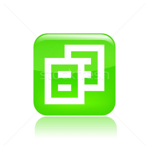 ícone do computador computador arquivo novo conceito Foto stock © Myvector