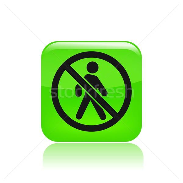 Interdit accès icône marche isolé illustration Photo stock © Myvector