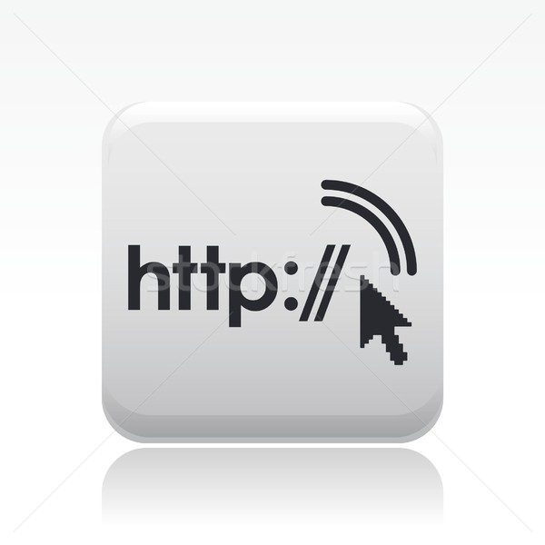 Http icon internet home technologie netwerk Stockfoto © Myvector