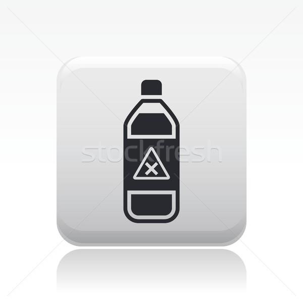 Veszélyes üveg ikon folyadék szennyezés címke Stock fotó © Myvector