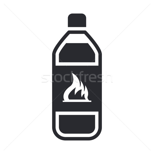 Inflammable bouteille chimiques liquide danger icône Photo stock © Myvector