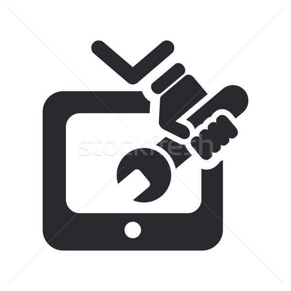 TV repairman symbol icon Stock photo © Myvector