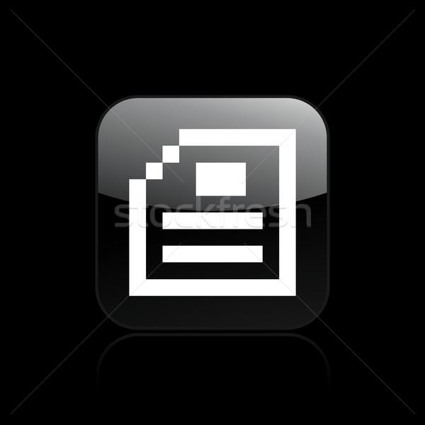 Pixel számítógép ikon számítógép akta új ötlet Stock fotó © Myvector