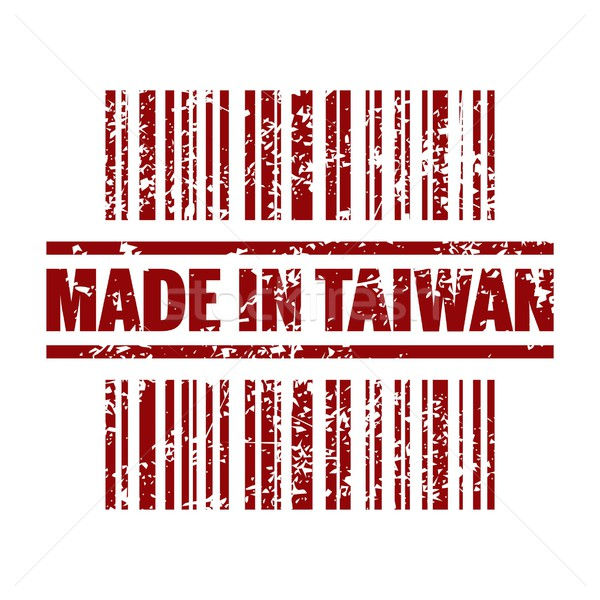 Taiwan icon print markt inkt asian Stockfoto © Myvector