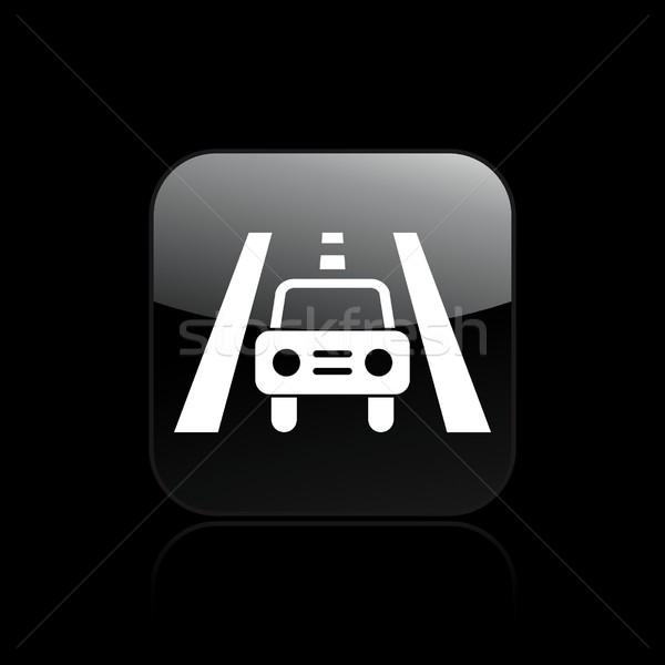 Estrada carro ícone serviço Foto stock © Myvector