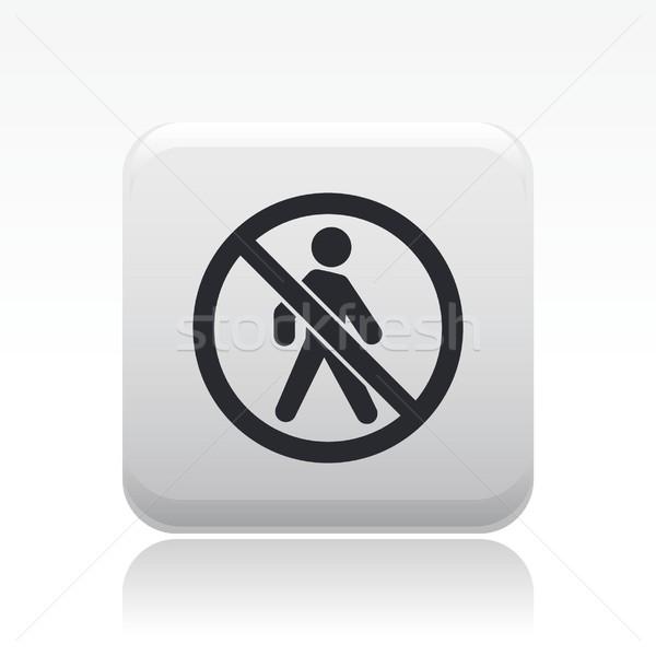Interdit accès icône marche marche vecteur Photo stock © Myvector