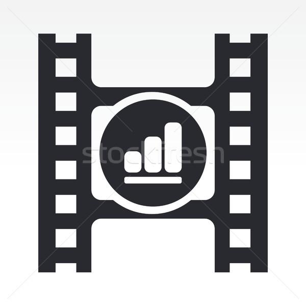 Tom wideo przycisk film Zdjęcia stock © Myvector