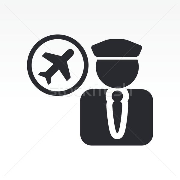 Pilot icon Stock photo © Myvector