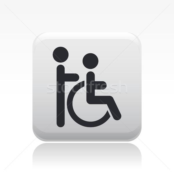 Desvantagem ícone casa cadeira de rodas social inválido Foto stock © Myvector