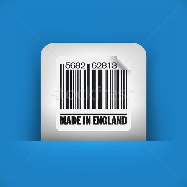 Blauw grijs icon markt inkt Engeland Stockfoto © Myvector