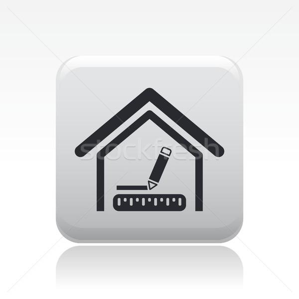 Interior design icon  Stock photo © Myvector