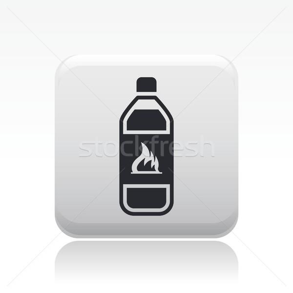 Tehlikeli şişe ikon sıvı Stok fotoğraf © Myvector