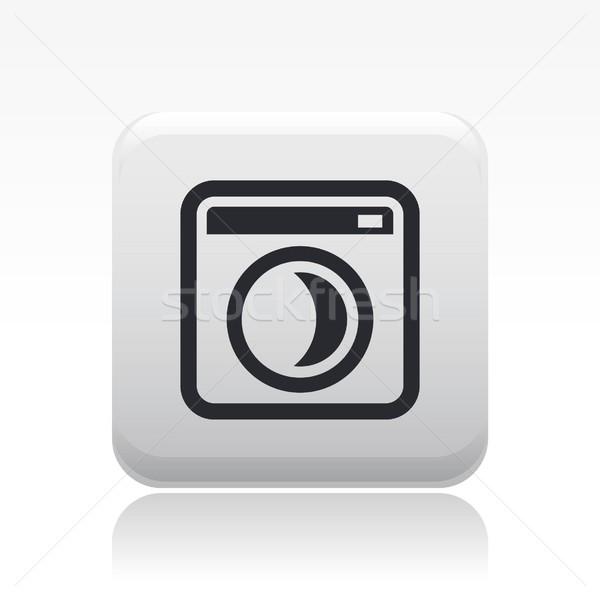 Stok fotoğraf: çamaşır · makinesi · ikon · kavram
