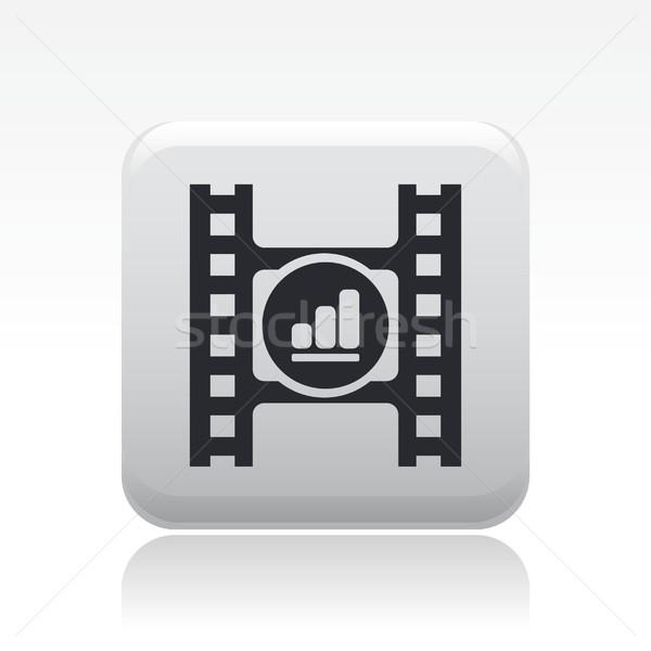 Vídeo jogador ícone filme botão Foto stock © Myvector