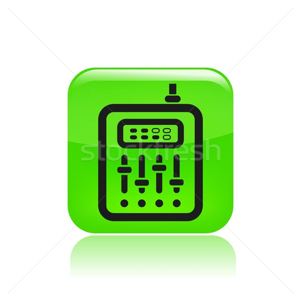 Stock fotó: Keverő · ikon · zene · hálózat · audio · hallgat