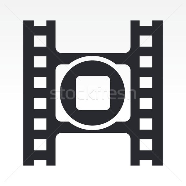 остановки видео икона фильма Сток-фото © Myvector