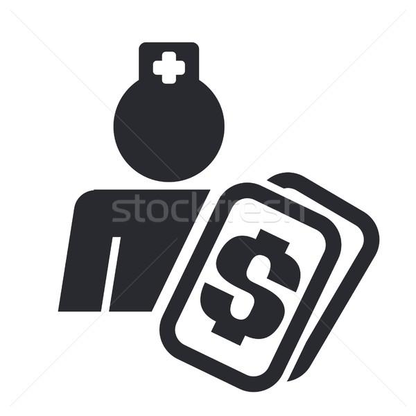 Сток-фото: медицинской · стоить · икона · медицина · ухода · изолированный