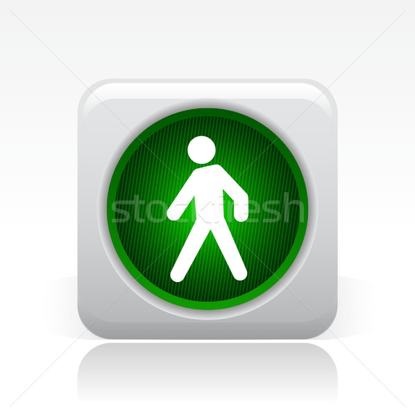 Groene stoplicht icon start Stockfoto © Myvector