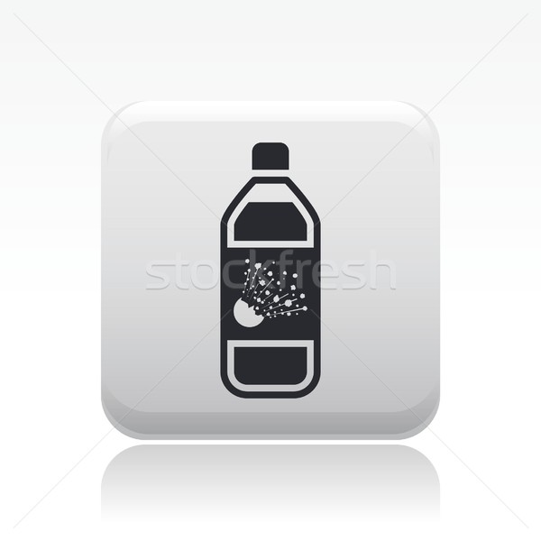 Veszélyes üveg ikon Stock fotó © Myvector