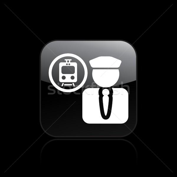 Train driver icon Stock photo © Myvector