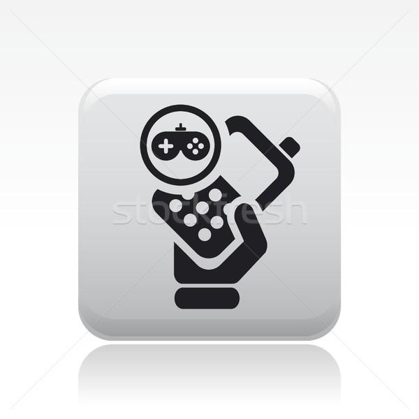 Téléphone jeu icône maison téléphone jouer Photo stock © Myvector