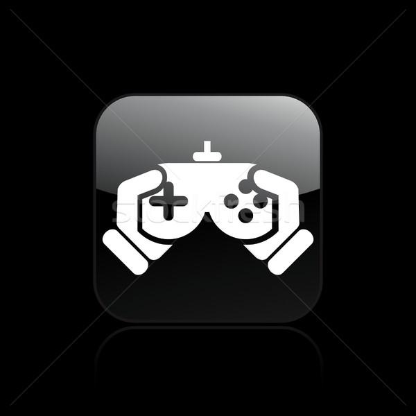 видеоигра икона домой играть игры играет Сток-фото © Myvector